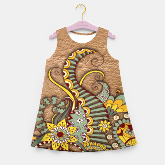 Thumbnail image of I love coffee Doodle Art Girl's Summer Dress, Live Heroes
