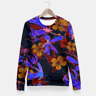 Thumbnail image of Bright floral Fitted Waist Sweater, Live Heroes