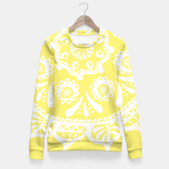 Thumbnail image of Brosya Star Fruit Mandala Fitted Waist Sweater, Live Heroes