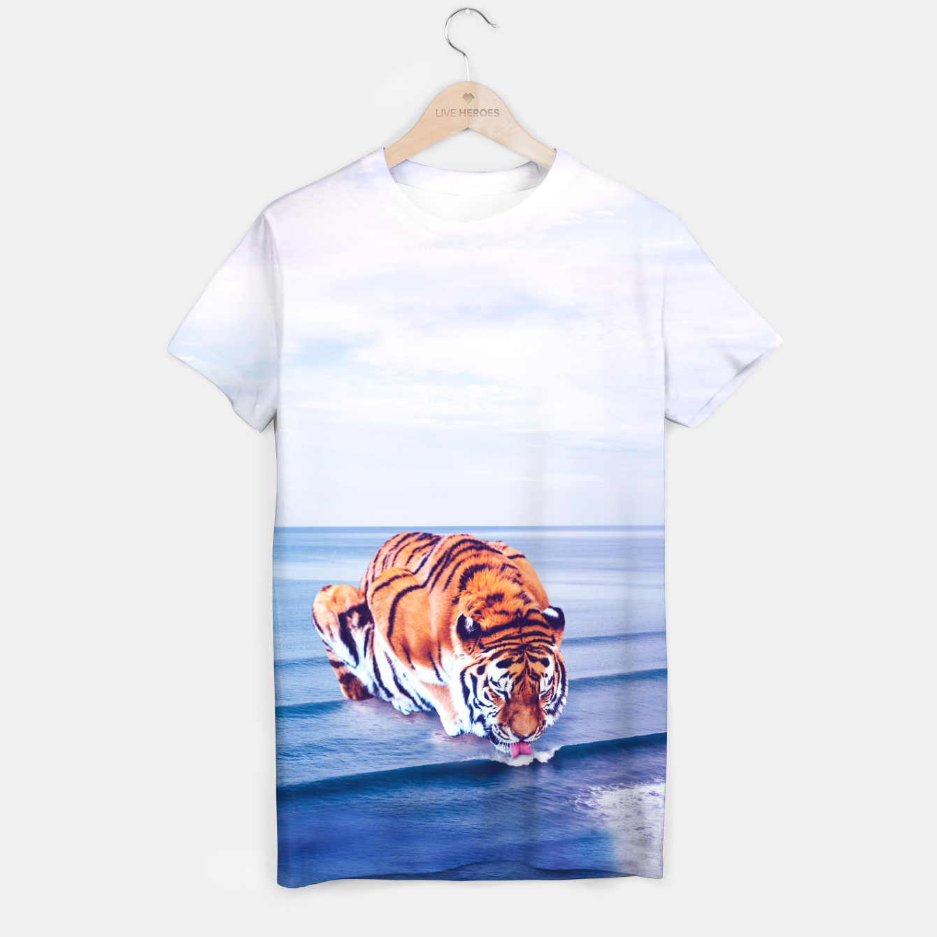 Image of Tiger Wave T-shirt - Live Heroes
