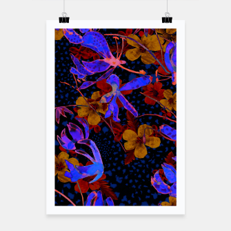 Thumbnail image of Bright floral Poster, Live Heroes