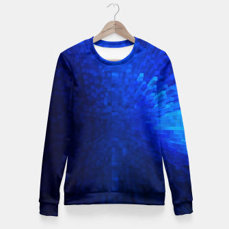 Thumbnail image of Blue Cube Blast Fitted Waist Sweater, Live Heroes