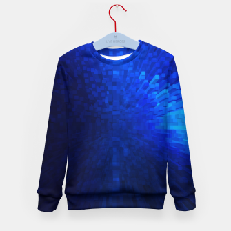 Thumbnail image of Blue Cube Blast Kid's Sweater, Live Heroes