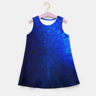 Thumbnail image of Blue Cube Blast Girl's Summer Dress, Live Heroes