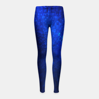 Thumbnail image of Blue Cube Blast Girl's Leggings, Live Heroes