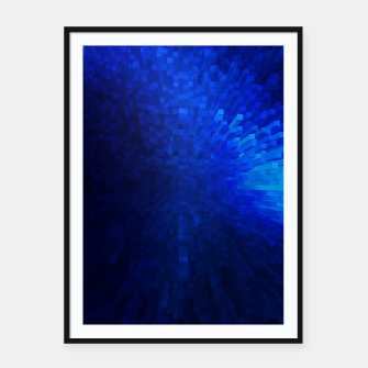 Thumbnail image of Blue Cube Blast Framed poster, Live Heroes