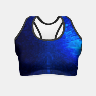 Thumbnail image of Blue Cube Blast Crop Top, Live Heroes