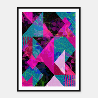 Thumbnail image of Geo Floral Framed poster, Live Heroes