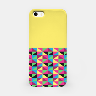 Miniaturka Funky Triangles on Yellow iPhone Case, Live Heroes