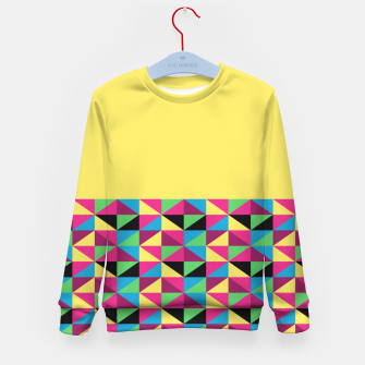 Miniaturka Funky Triangles on Yellow Kid's Sweater, Live Heroes