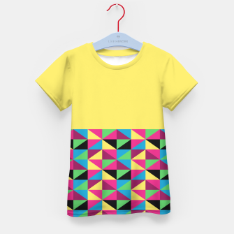 Miniaturka Funky Triangles on Yellow Kid's T-shirt, Live Heroes