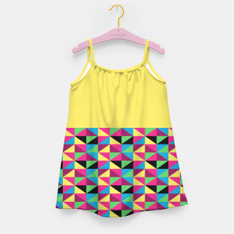 Miniaturka Funky Triangles on Yellow Girl's Dress, Live Heroes
