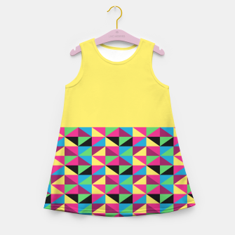 Miniaturka Funky Triangles on Yellow Girl's Summer Dress, Live Heroes