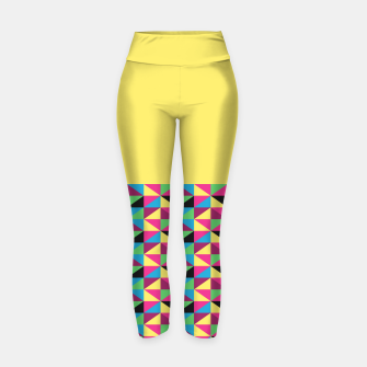 Miniaturka Funky Triangles on Yellow Yoga Pants, Live Heroes