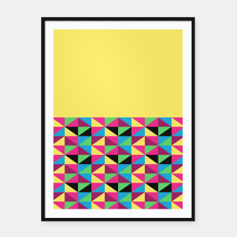 Miniaturka Funky Triangles on Yellow Framed poster, Live Heroes