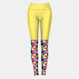 Miniaturka Funky Triangles on Yellow Leggings, Live Heroes