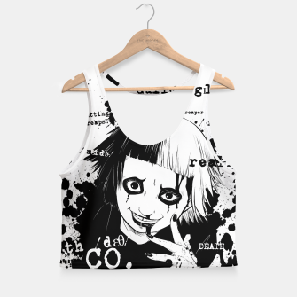 Thumbnail image of Deathco anime Crop Top, Live Heroes