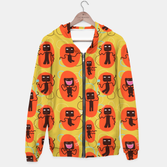 Thumbnail image of Happy robots Hoodie, Live Heroes