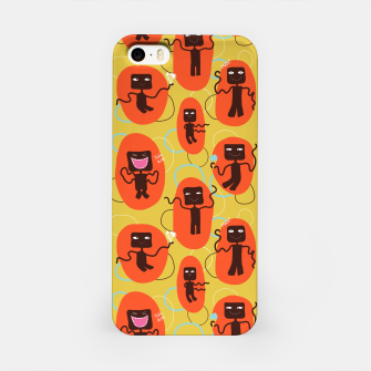 Thumbnail image of Happy robots iPhone Case, Live Heroes