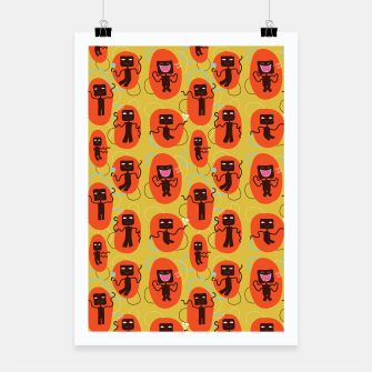 Thumbnail image of Happy robots Poster, Live Heroes