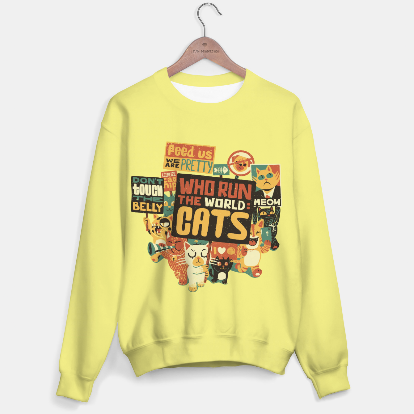 Image of Who Run The World Cats Sweater - Live Heroes