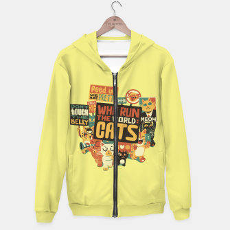Who Run The World Cats Hoodie thumbnail image