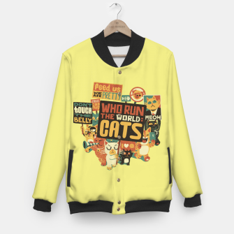 Thumbnail image of Who Run The World Cats Baseball Jacket, Live Heroes