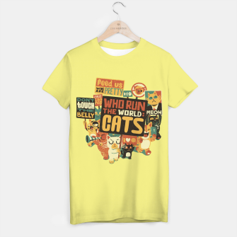Thumbnail image of Who Run The World Cats T-shirt, Live Heroes