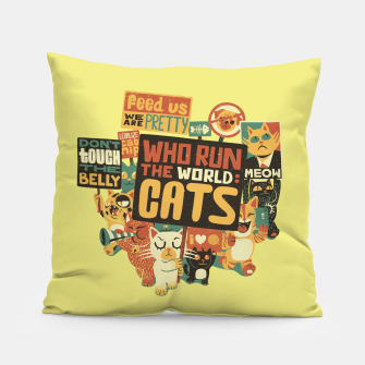 Thumbnail image of Who Run The World Cats Pillow, Live Heroes
