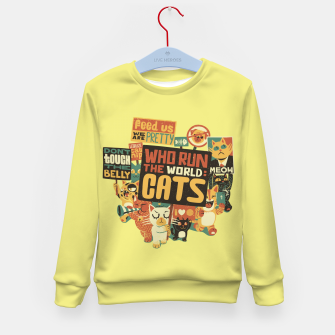 Who Run The World Cats Kid's Sweater thumbnail image