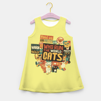 Thumbnail image of Who Run The World Cats Girl's Summer Dress, Live Heroes