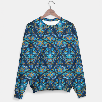 Miniatur Floral pattern. Geometric pattern - Bright colorful tradition  Sweater, Live Heroes