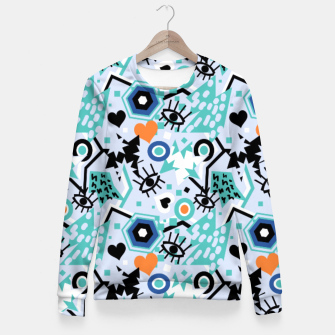 Thumbnail image of Pop art bright abstract funky design Fitted Waist Sweater, Live Heroes