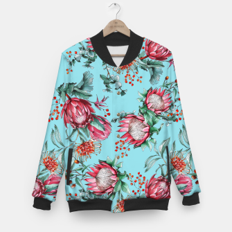 King protea flowers watercolor illustration Baseball Jacket thumbnail image