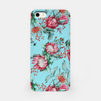 King protea flowers watercolor illustration iPhone Case thumbnail image