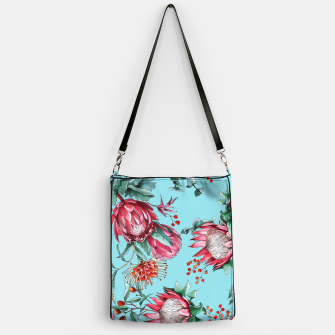 King protea flowers watercolor illustration Handbag thumbnail image