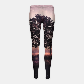 Thumbnail image of The Lonely Tree Girl's Leggings, Live Heroes