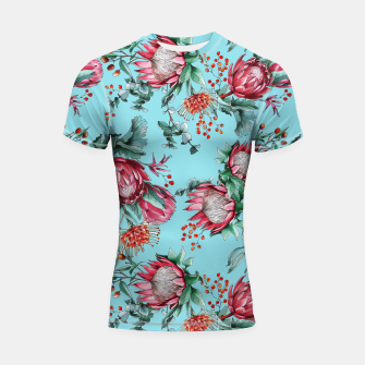 King protea flowers watercolor illustration Shortsleeve Rashguard thumbnail image