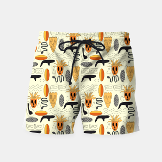 Miniatur African Masks Swim Shorts, Live Heroes