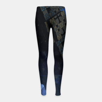 Thumbnail image of Stone Shadow Cubes Girl's Leggings, Live Heroes