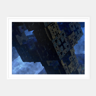 Thumbnail image of Stone Shadow Cubes Framed poster, Live Heroes