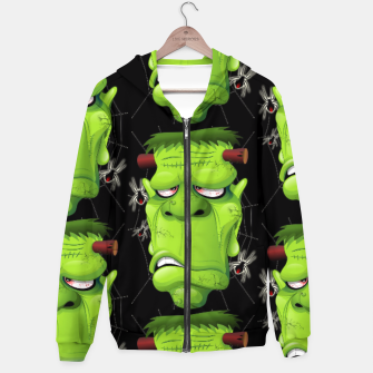 Thumbnail image of Frankenstein Ugly Portrait and Spiders Hoodie, Live Heroes