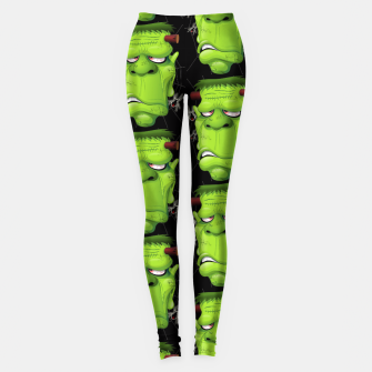 Frankenstein Ugly Portrait and Spiders Leggings thumbnail image