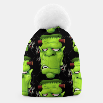 Frankenstein Ugly Portrait and Spiders Beanie thumbnail image