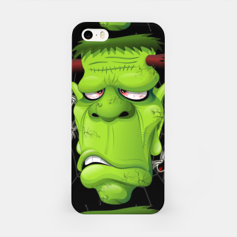 Frankenstein Ugly Portrait and Spiders iPhone Case thumbnail image