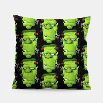 Thumbnail image of Frankenstein Ugly Portrait and Spiders Pillow, Live Heroes