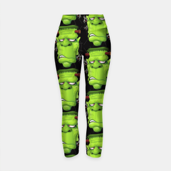 Thumbnail image of Frankenstein Ugly Portrait and Spiders Yoga Pants, Live Heroes