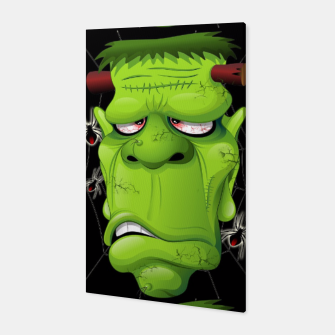 Frankenstein Ugly Portrait and Spiders Canvas thumbnail image