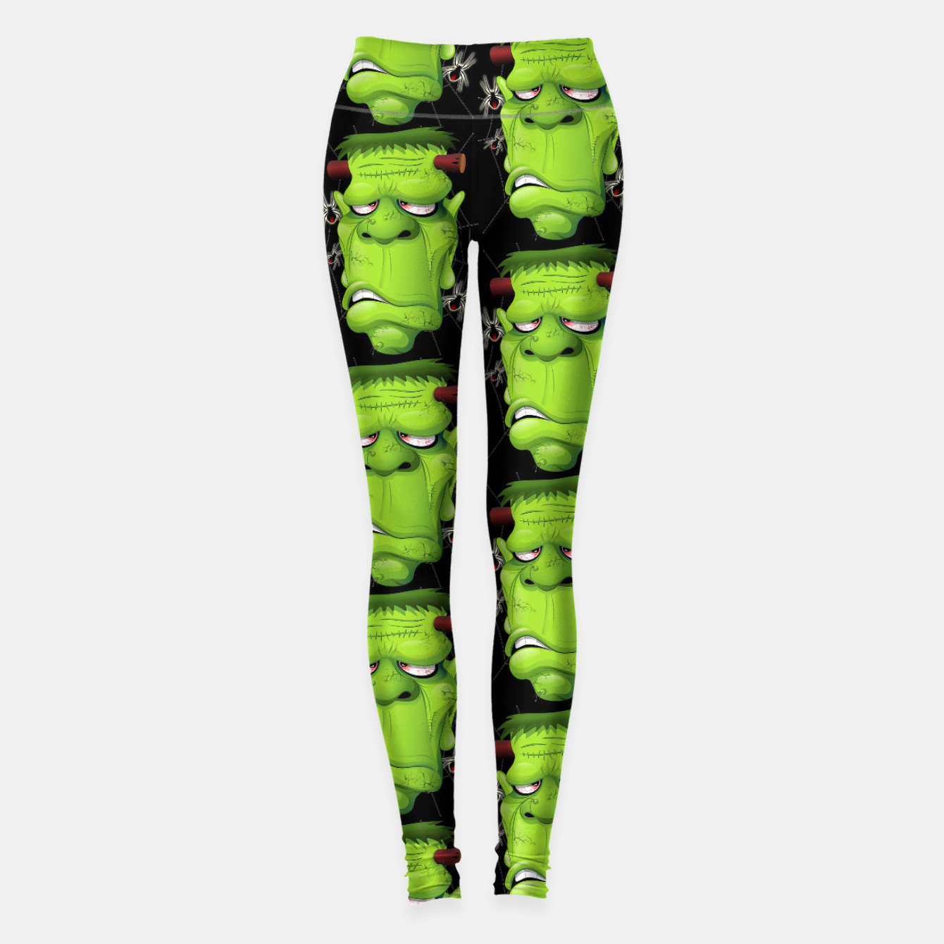 Image of Frankenstein Ugly Portrait and Spiders Leggings - Live Heroes