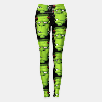 Thumbnail image of Frankenstein Ugly Portrait and Spiders Leggings, Live Heroes